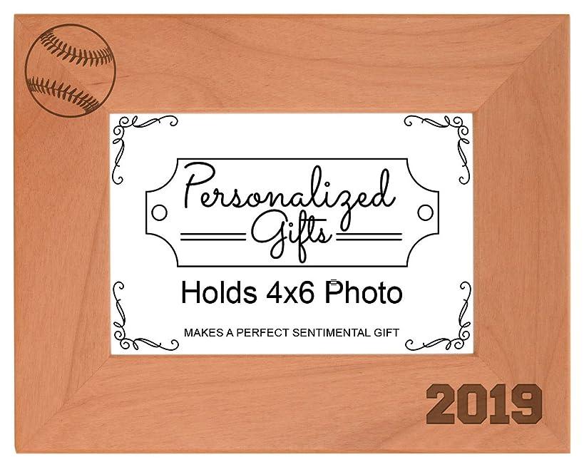 Baseball Gifts 2019 Frame Baseball Picture Frame Sports Photo Frame Wood Engraved 5x7 Landscape Picture Frame gma7332382965035