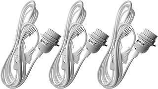 Trango 3Pack E27Portalámparas con interruptor–Casquillo E27Color Blanco con 3,5m cable de alimentación Anillo de rosca Interruptor–Lámpara suspensión techo 3tg1011–350W