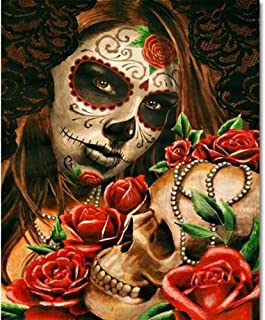 """TUMOVO Paint by Numbers for Adults,Mexican""""Day of The Dead"""" Paint by Numbers for Adults Beginner, Sugar Skull Girl Paint b..."""