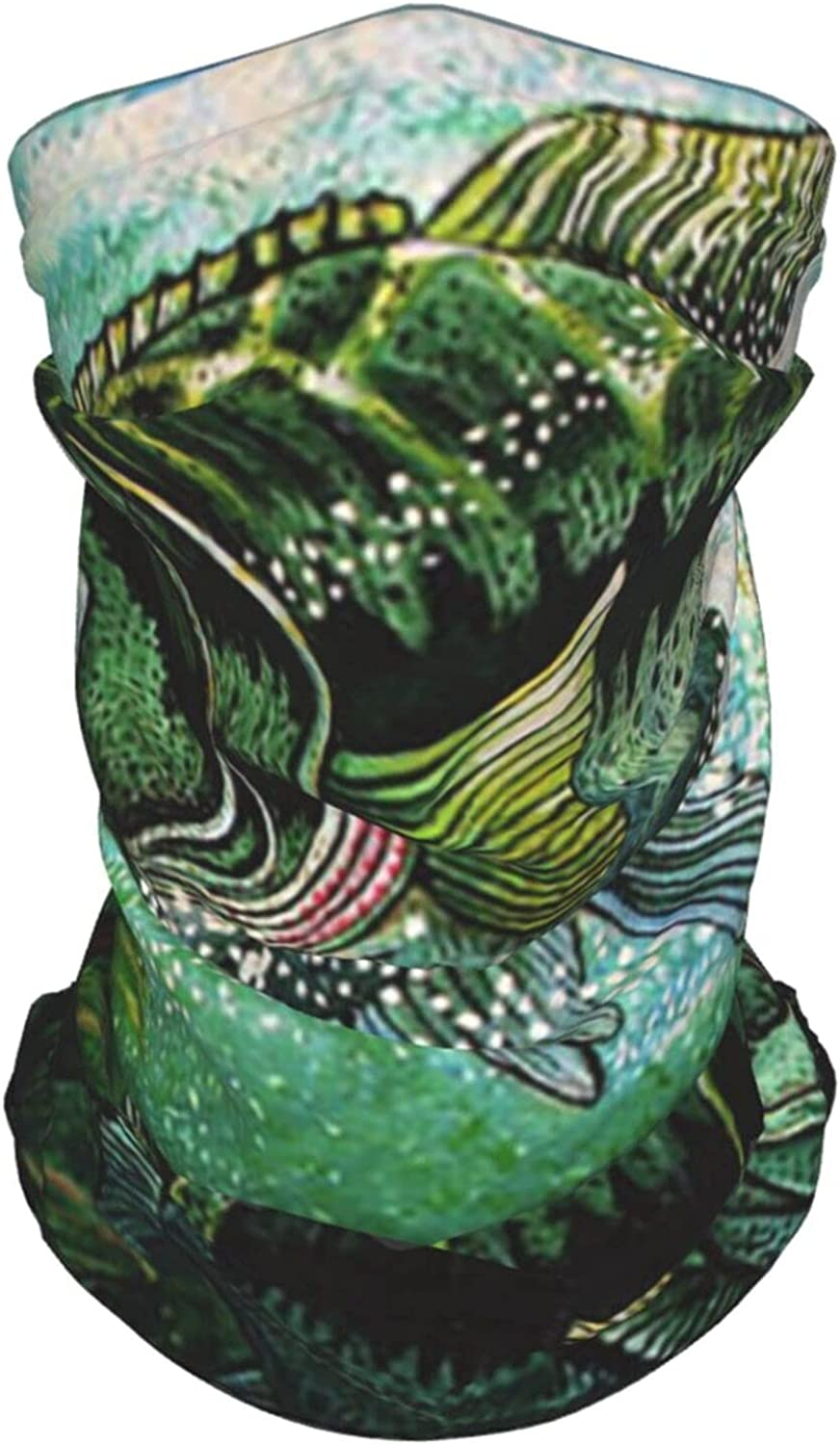 Colorful Catfish Neck Gaiter Multipurpose Headwear Ice Silk Mask Scarf Summer Cool Breathable Outdoor Sport 4 Pcs