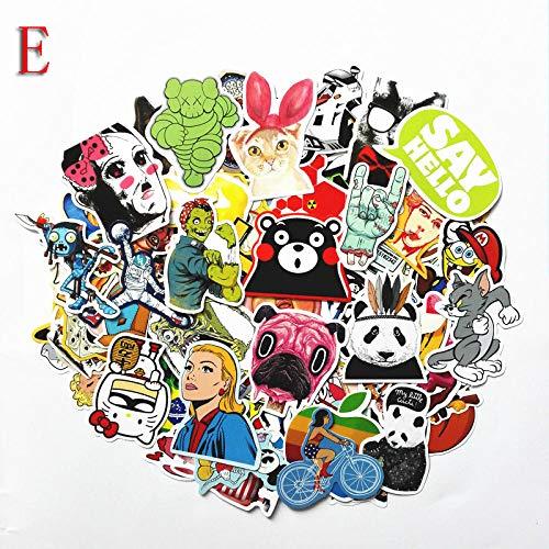 YRBB Stickers voor de auto, niet herbruikbaar, voor wieltjes, koffer, laptop, gitaar, zelfklevend, graffiti, 100 stuks