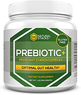 Natural Stacks: Prebiotic Plus - Resistant Starch Complex - 16 Servings - Improves Digestive Health - Increases Metabolism - Enhances Sleep Quality - Gluten and Dairy Free