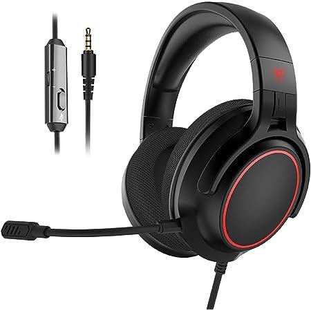 NUBWO N20 ゲーミング ヘッドセット ps4 ヘッドセット 軽量 ヘッドフォン マイク付き ゲーム用 ヘッドホン 高音質 有線 PC/FPS/PS4/Switch/Xbox に対応