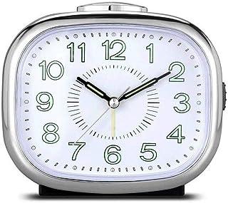 WMMCM Ronde silencieuse Réveil Non coutil Nuit Bureau Réveil Voyage Horloge Lazy Horloge for Enfants Mode Chambre Bureau d...