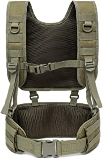 Clyline Airsoft Chaleco t/áctico Cintur/ón de Combate Acolchado con Correas extra/íbles Chaleco de Entrenamiento para Deportes al Aire Libre