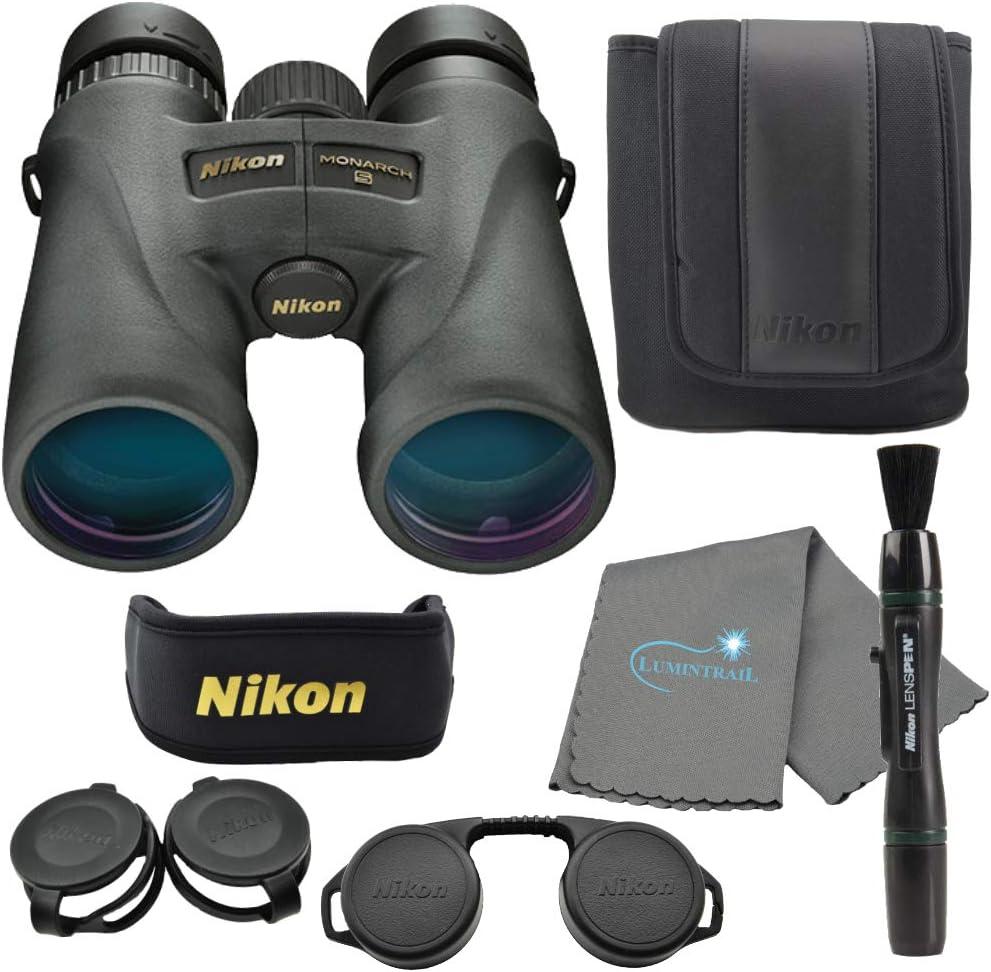Nikon Monarch 5 Binoculars Black 12x42 SALENEW very popular Lens 5% OFF Bundle Pen with a
