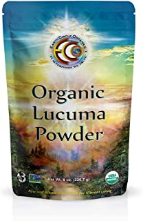 Earth Circle Organics Lucuma Powder - Raw Organic Premium Superfood - Natural Sweet Flavor like Maple - Certified & USDA, Vegan, Non-GMO, Gluten-Free - 8oz