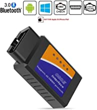 Friencity Bluetooth Car OBD ii 2 OBD2 Scanner Adapter, Vehicle Engine Code Reader for Car Diagnostic Scan Tool Check Engine Light, Compatible with Android & Windows Devices, NOT for iPhone