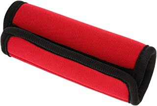 D DOLITY Travelling Luggage Suitcase Handle Comfort Wraps Identifier Tags-Red