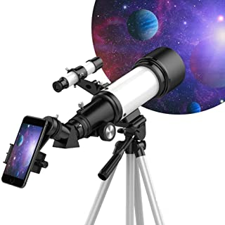 Sisliya Telescope, 300/70mm Astronomical Refractor Telescope, Suitable for Adults-Kids-Beginners, Phone Adapter, View Land...