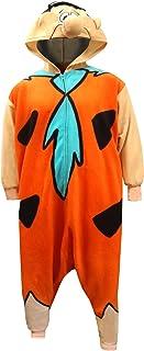 Underboss Men's Fred Flintstone One Piece Adult Kigarumi Pajamas