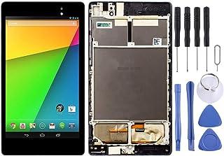 DONGYAO Skärmersättning LCD pekskärm för ASUS LCD-skärm och Digitizer Full Montering med ram för Asus Google Nexus 7 2:a 2...