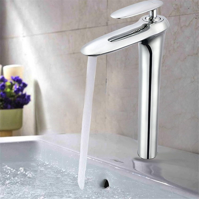 SHLONG Wasserhahn Hochvergütetes Waschbecken aus Kupfer mit heiem und kaltem Mischwasser für das Badezimmer
