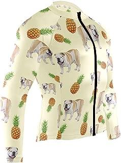 Mens Cycling Jersey Shirt Boxer Dog Long Sleeve Bike Jersey Riding Tops