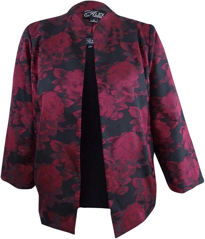 Alex Evenings Womens Plus 2PC Floral Print Blazer