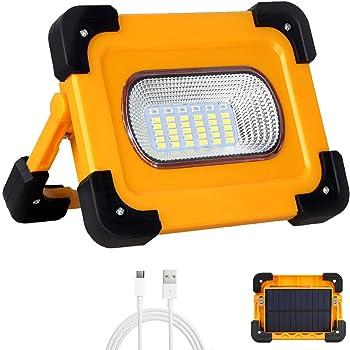 Bater/ía Incluida Luces de Camping con USB Impermeable para Garaje Trongle Luces LED Recargables de Trabajo Luz de Seguridad con 3 Modos COB al Aire Libre 30W Pesca 2 Paquetes Senderismo
