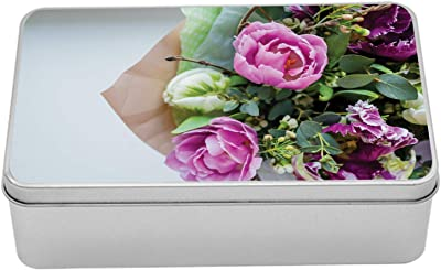 1x Black decorative round paper hat box for flowers Home Decor Gift Florist  L