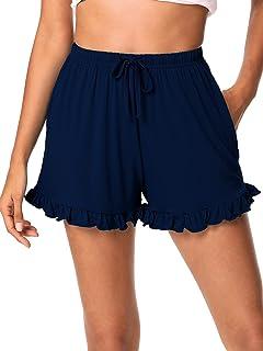 WiWi Soft Bamboo Sleep Shorts for Women Lightweight Pajama Bottoms Lounge Shorts with Pockets Boxers Sleepwear S-XXL