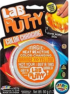 Lab Putty Color Changing Heat Sensitive and one Bouncy Ball by JA-RU Orange | Item #9576 (Pack of 1)