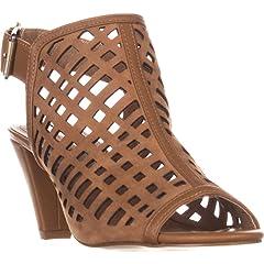 5b7fe4628e4 Tahari Womens Evalyn Leather Open Toe Casual Slingback Sandals