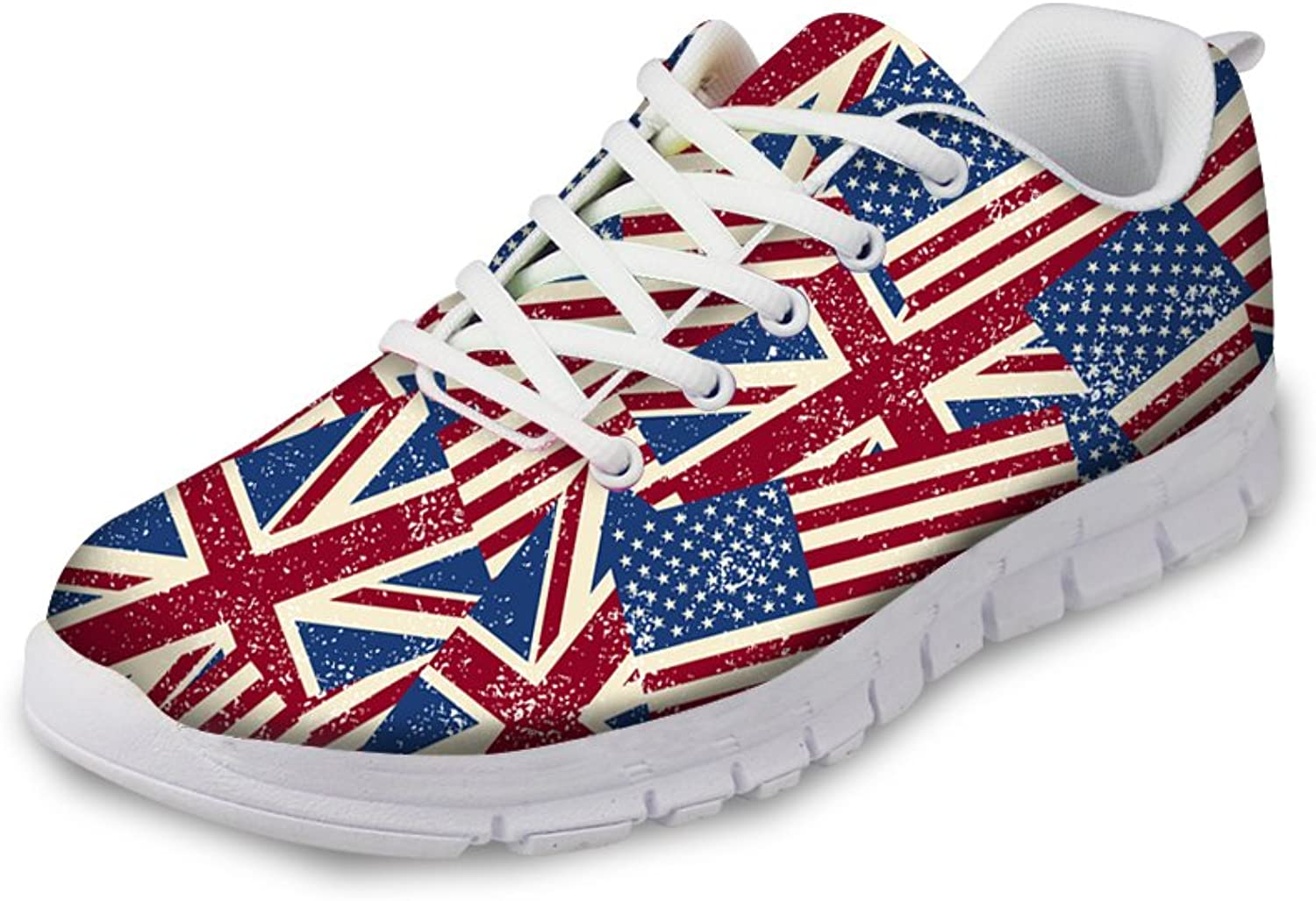 American Flag Print Fashion Womens Sneaker Hill Female Sports shoes Size 5-12