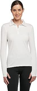 Solbari UPF 50+ Women's Long Sleeve Polo Fitness Shirt - UV Protection, Sun Protective