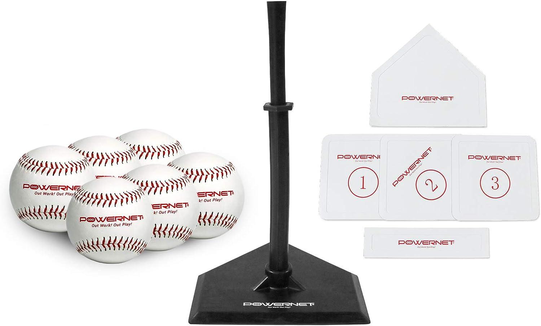 PowerNet Long-awaited Baseball T-Ball Coaching Bundle Super special price Set 8 Piece Tee-Ball