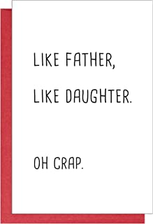 Funny Birthday Card for Father, Joke Bday Card for Dad, Humorous Father's Day Card from Daughter