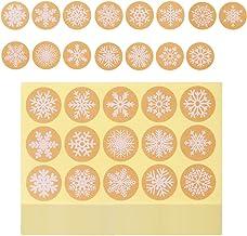 Kerststickers Roll,450 stuks sneeuwvlok stickers kerstvakantie stickers DIY decoratieve poster sticker voor Scrapbooking k...