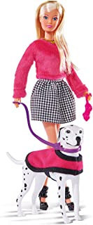 Simba Steffi Love 105738053Doll in Stylish Autumn Clothing with Dog, 3+ Years