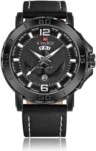 YWHY Montre Nouveau Top Marque De Luxe Bracelet en Cuir Montres De Sport Hommes Quartz Horloge Sports Militaire Montre-Bracelet