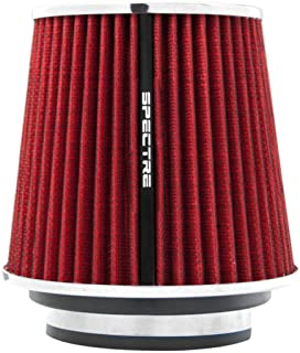 Spectre Universal Clamp-On Air Filter: High Performance, Washable Filter: Round Tapered; 3 in/3.5 in/4 in Flange ID; 6.719...