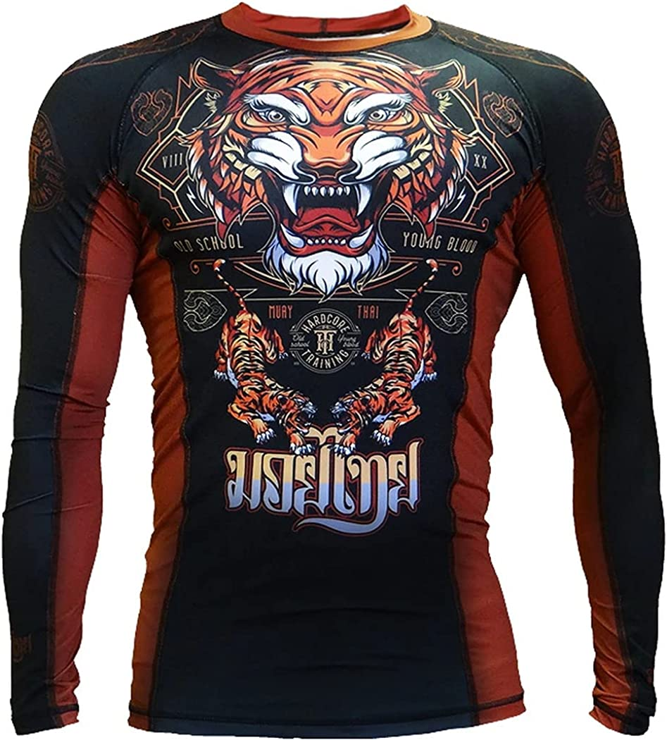 Hardcore Fees free Training Popular shop is the lowest price challenge Tiger Men's Rash Compression Long Guard Sleeve