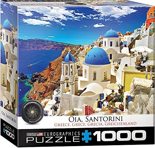 """EuroGraphics 8000-0944 """"Oia Santorini Greece Puzzle (1000-Piece)"""