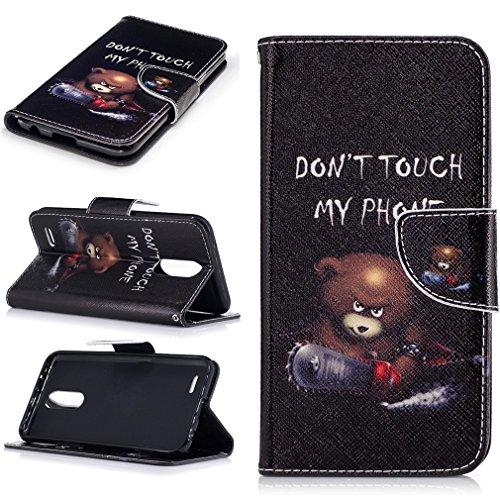 LMAZWUFULM Hülle für Honor 5C / 7 Lite/Huawei GT3 5,2 Zoll PU Leder Magnet Brieftasche Lederhülle Wütender Bär Muster Stent-Funktion Ledertasche Flip Cover