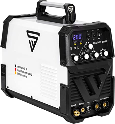 STAHLWERK AC/DC TIG 200 Plasma ST IGBT - Máquina de soldar TIG + MMA Kombi 200 Amp con cortador de plasma de 50 Amp C...