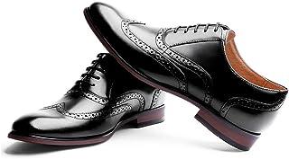 Men's Oxford Shoes Genuine Leather Dress Shoes Cap Toe Lace Up