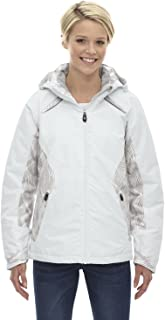 North End Linear Womens White Insulated Winter Snow Ski Snowboard Jacket Coat,WINTER WHITE ,XX-Large