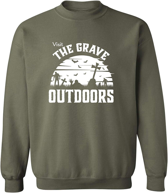 zerogravitee Visit The Grave Outdoors Crewneck Sweatshirt