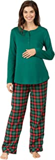 Women's Maternity Pajamas Cozy - Maternity Sleepwear, Green
