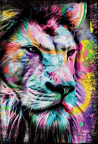 Bíblia NAA LG Leão Colorido - Letra Grande: Nova Almeida Atualizada