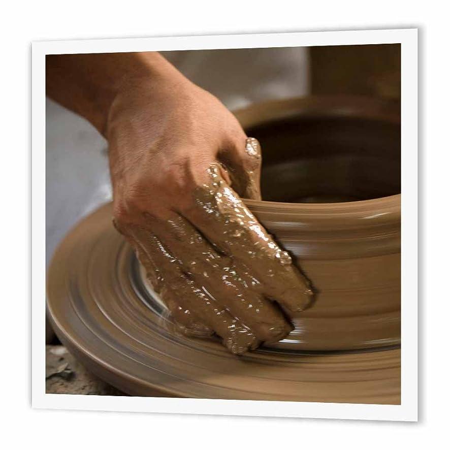 3dRose Nicaragua, Catarina. Pottery Wheel and clay-SA14 JME0127-John and Lisa Merrill-Iron On Heat Transfer, 10-inch, for White Material (ht_86880_3)