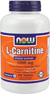 Now Foods L-Carnitine 1000 mg - 100 Tabs 4 Pack