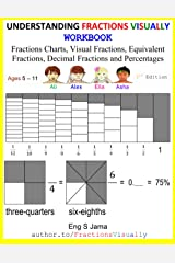 UNDERSTANDING FRACTIONS VISUALLY WORKBOOK: Fractions Posters, Visual Fractions, Equivalent Fractions, Decimal Fractions and Percentages ペーパーバック