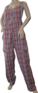 Shiva Regulus Funky Chequered Cotton Combat Dungarees - Nepalese Brightly Coloured Dungarees