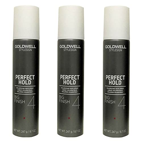 Goldwell Stylesign 4 Perfect Hold Big Finish Volumizing Hair Spray 8.7 oz. - 3 Pack