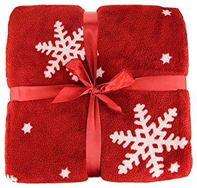 Christmas Nordic Throws Snowflake Fleece For Sofas Beds Chairs even Your Car