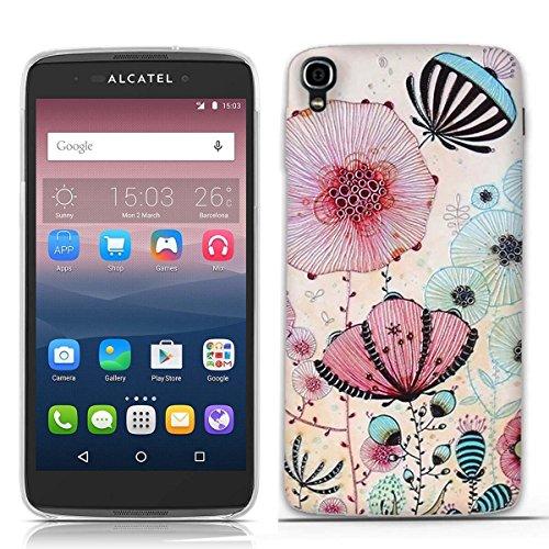 FUBAODA for für Alcatel one Touch Idol 3 (5.5 inch) Hülle, 3D Erleichterung Ästhetisch Muster TPU Hülle Schutzhülle Silikon Hülle für for für Alcatel one Touch Idol 3 (5.5 inch)