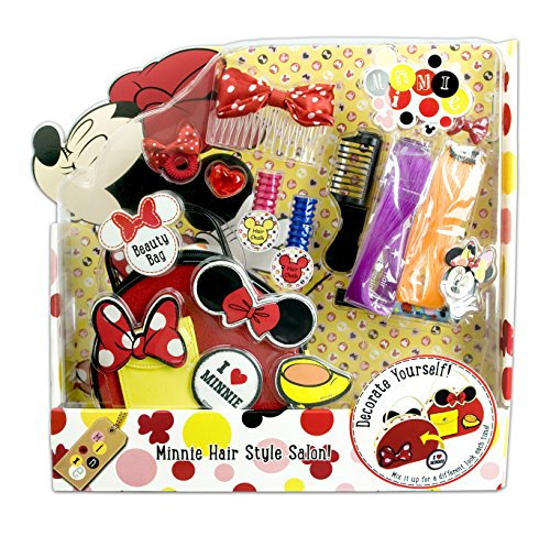 Markwins Geschenk-Set: Disney Minnie Mouse Tasche (Beauty Bag) plus Haarschmuck (Hair Style Salon)