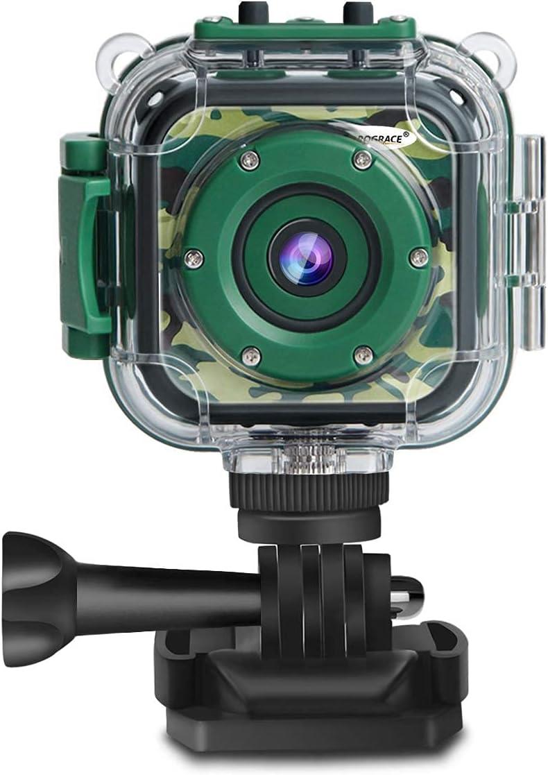 PROGRACE Children Kids Camera Waterproof Video Action Jacksonville Mall Digital Super sale period limited HD